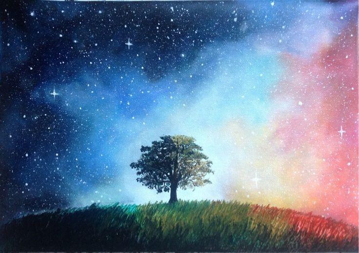 Galaxy tree by goingforawalk.deviantart.com on @DeviantArt