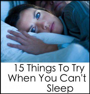 15 Things To Try When You Can't Sleep