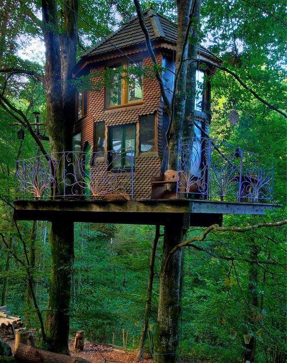 les 25 meilleures id es concernant maisons dans les arbres sur pinterest maison pour enfants. Black Bedroom Furniture Sets. Home Design Ideas
