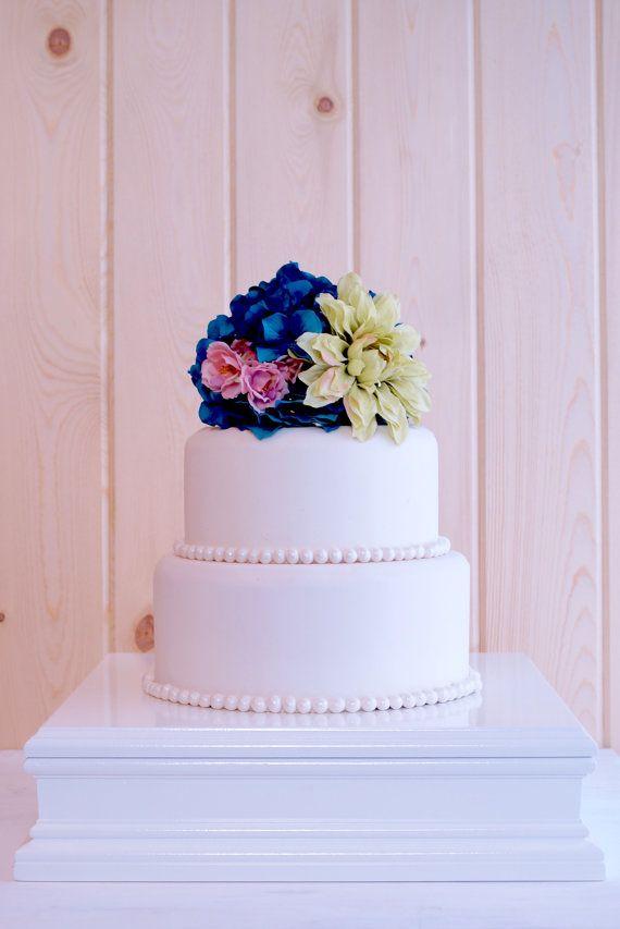 10 Inch White Cake Stand Square Cupcake