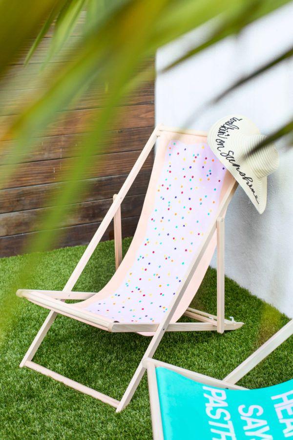 DIY Sling Beach Chair Makeovers | Studio DIY