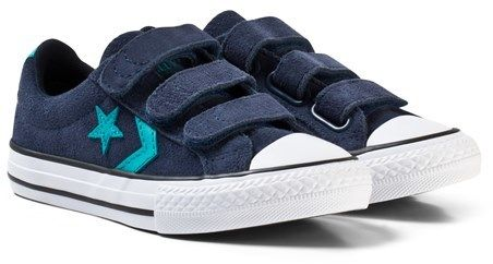 Converse Navy and White Kids One Star Player EV Trainers