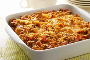 Quick & Easy Egg Casserole.  We make this every time we have leftover bread.  The kids LOVE it!  :)