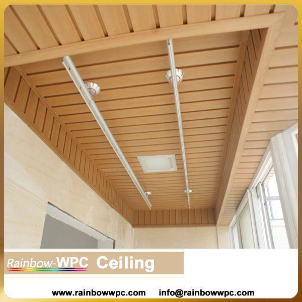 Dcorative WPC PVC ceiling , wood wpc pvc plastic ceiling/roof panels