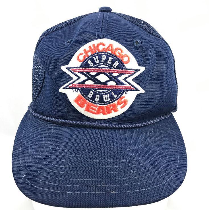 Vintage NFL Chicago Bears Super Bowl XX Trucker Hat Cap Adjustable Snapback  #Chicago #TruckerHat