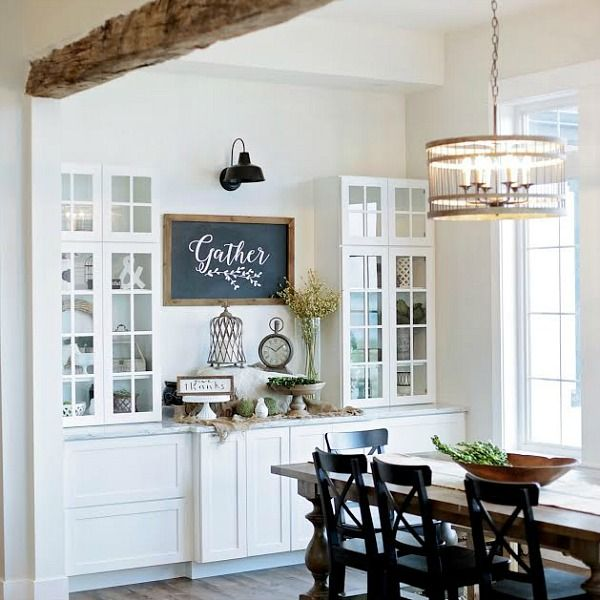 You are in for a treat, come see inside a custom built Modern Farmhouse Home Tour with Household No.6 - From white shiplap to chandeliers..