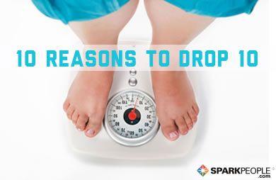 Top 10 Reasons to Drop 10 via @SparkPeople