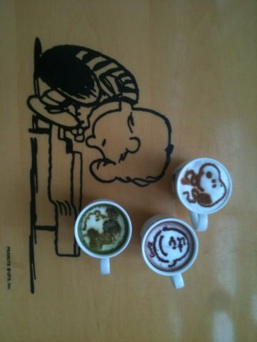 Drink Snoopy & his friends  @Chali Henderson Brown cafe, South Korea