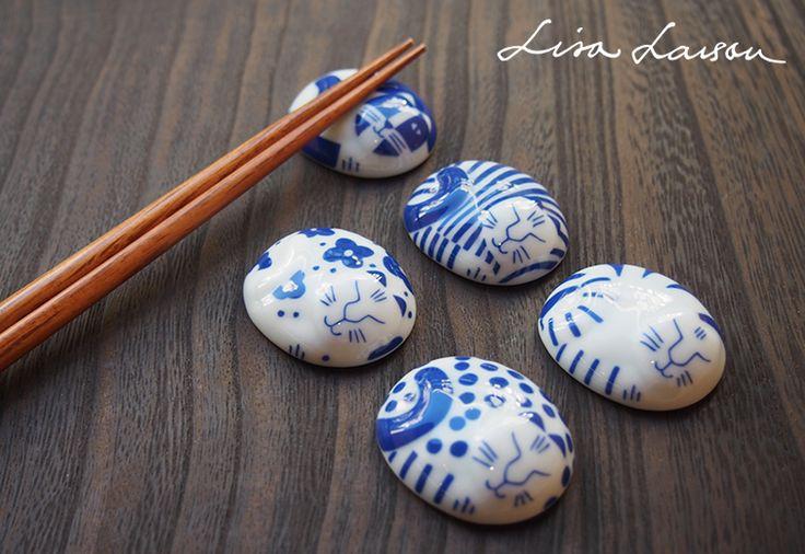 ごのねこ 箸置き 有田焼 / LISA LARSON JAPANSERIES リサ・ラーソン   キッチン   Abby Lifeフェアトレード, オーガニック, デザインアイテム通販サイト