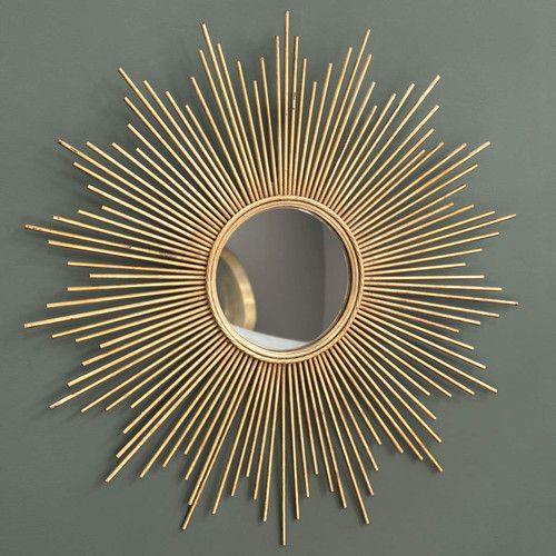 Metal mirror in gold D 99