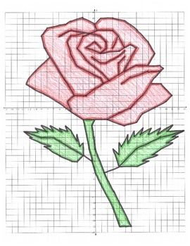 Valentines Day Math Rose Coordinate Graphing Ordered