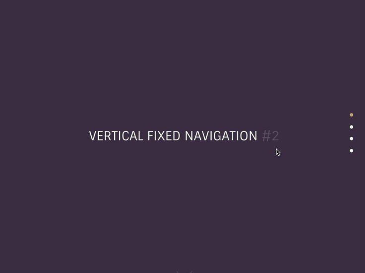 Navigation verticale fixe