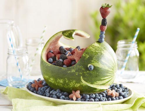 Walvis van watermeloen. Zo leuk!!!
