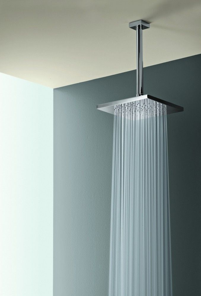 Square Rain Shower Head w/ Ceiling Mount