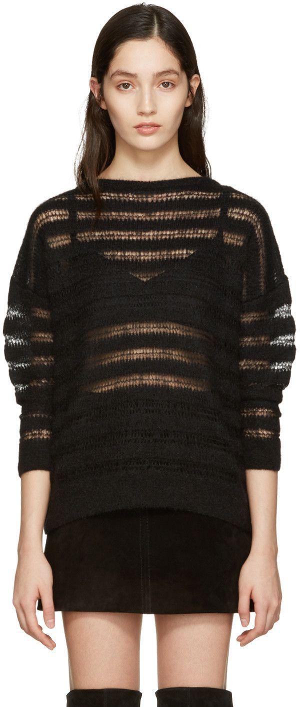 Saint Laurent - Black Mohair Sweater