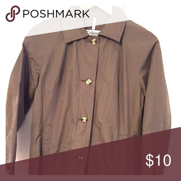 Women's rain coat Size small Columbia brown rain coat Columbia Jackets & Coats Trench Coats