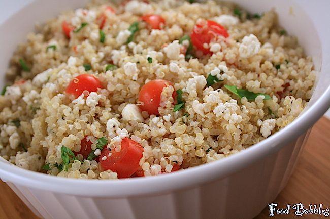 Quinoa with Tomatoes, Basil & Feta: Healthy & Satisfying!