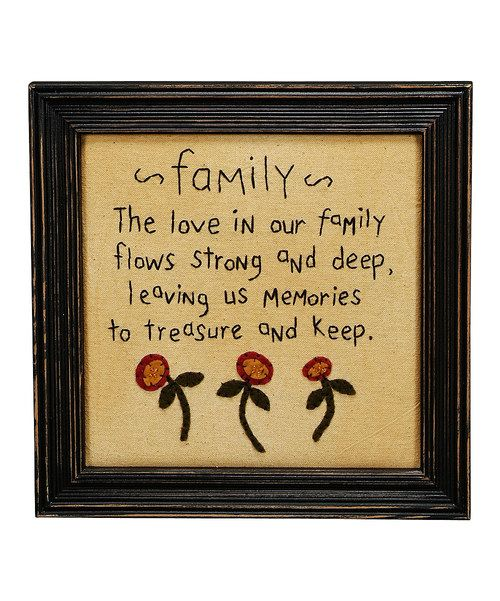 Look at this 'Family' Framed Wall Art on #zulily today!