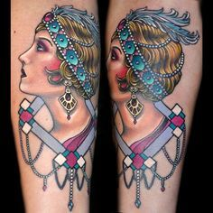 12 Elegant 1920s Flapper Tattoos