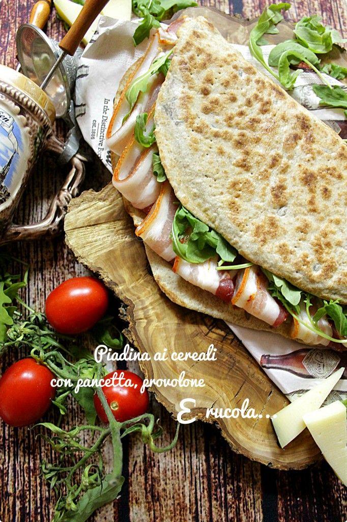 PIADINA AI CEREALI CON PANCETTA PROVOLONE E RUCOLA http://blog.cookaround.com/gustosapassione/2015/11/piadina-ai-cereali-con-pancetta-provolone-e-rucola.html
