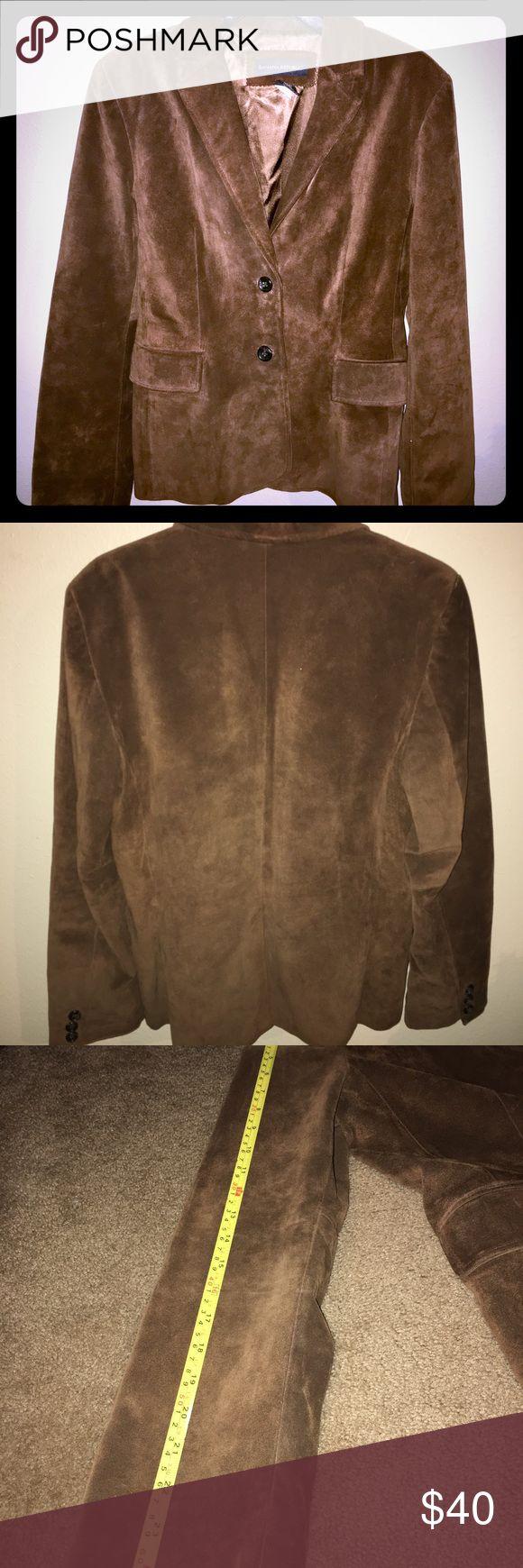 Banana Republic Size 10 Leather blazer jacket Clean pre owned Pet free and smoke free home Banana Republic Jackets & Coats Blazers