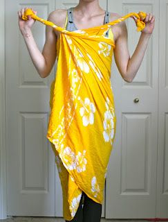 sari wrap dress instructions