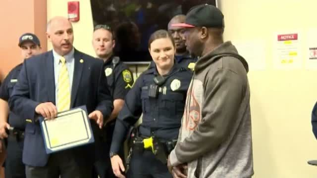 "A homeless man who South Carolina police are praising for jumping into action to assist an officer in an arrest this week said Wednesday things were ""going to"
