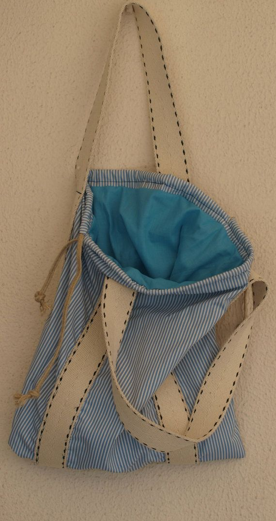 Medium Summer bag / Beach bag / Tote bag / cotton by Ulook on Etsy, €23.00