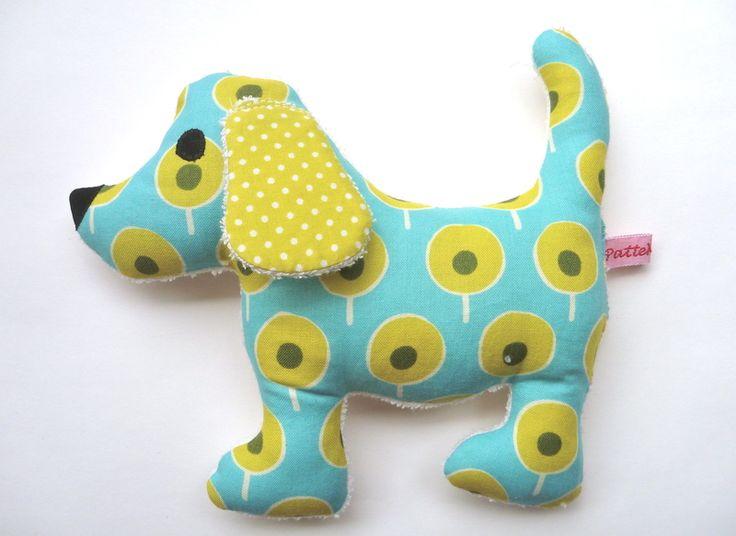 Einzelstück! Rassel Knister Hund retro Ku... von ✿ PatteMouille ✿ auf DaWanda.com