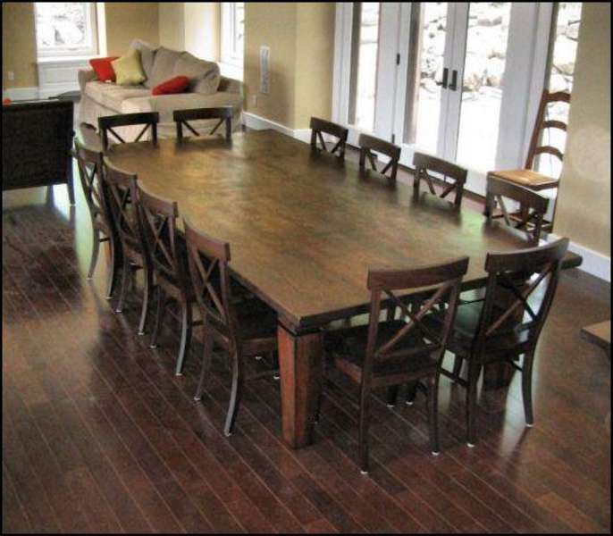 Large Dining Table Seats 12 Meja Makan Meja