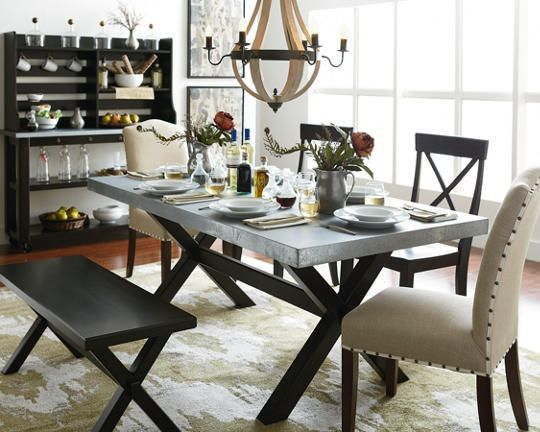 What Chairs Match A Zinc Dining Room Table