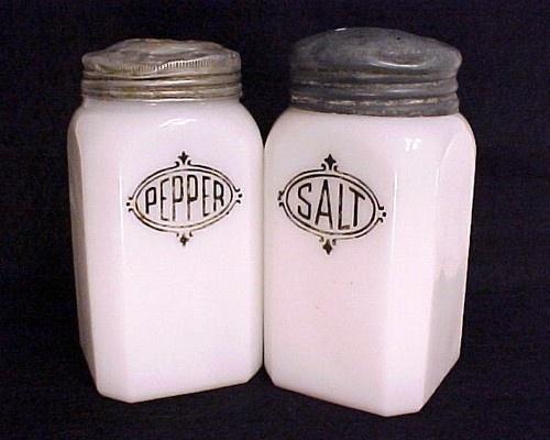 cheerful cool salt and pepper shakers. Milk Glass Hazel Atlas Salt and Pepper Range Shakers Black Shield Lettering  OLD 131 best pepper shakers images on Pinterest n