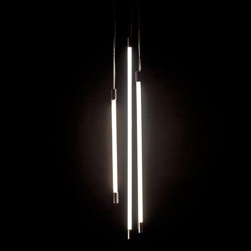 Thin vertical suspension light viso pendant lights for Very modern lighting