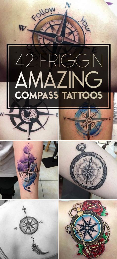 Nautical Compass Tattoo Designs