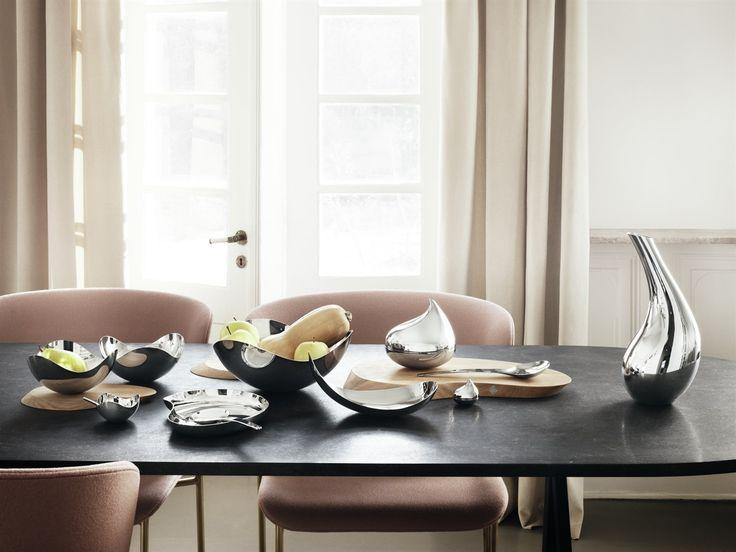Georg Jensen - Bloom Skål - Blank - stål - frugtskål - brødkurv - salatskål - køkken - tilbehør - borddækning - inspiration