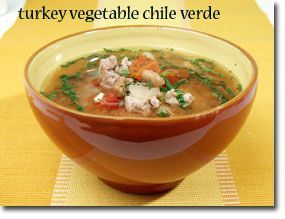 Turkey and Vegetable Chili Verde - Great recipe, simple and includes ...