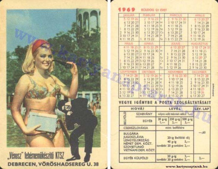 1969 - 1969_0308 - Régi magyar kártyanaptárak