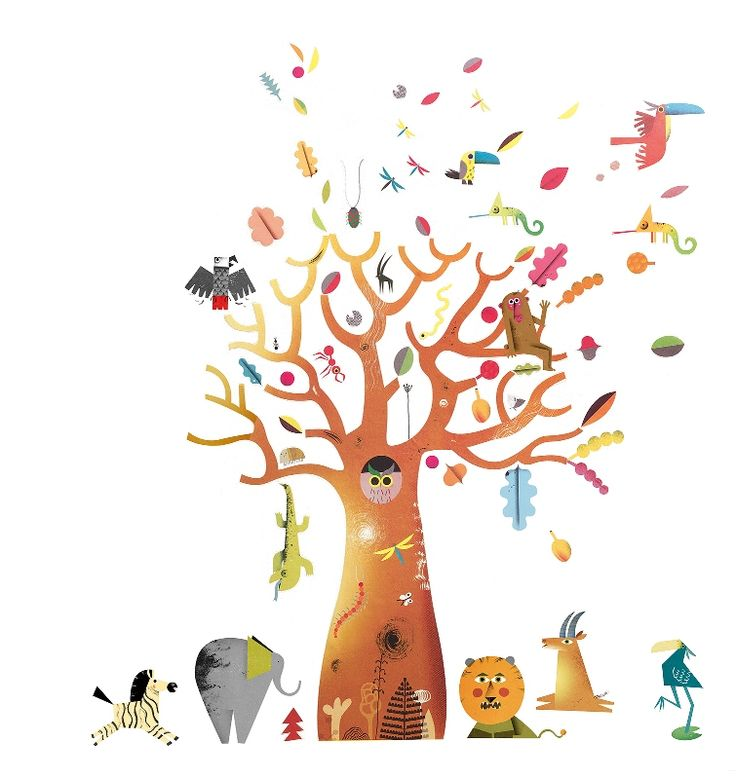 Djeco ~ Wall Stickers ~ Baobab Tree
