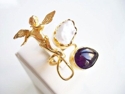 CHRISTMASS SALE-Angel Amethyst and Pearl Magic dual by beadycats