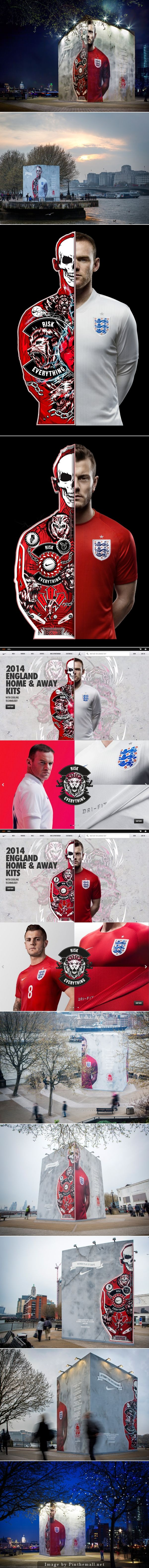 Nike has unveiled their advertising for the World Cup. Their campaign has rolled out for web and print, and the graphics are on super massive displays outdoors. #riskeverything #branding #advertising