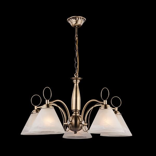 Потолочные и подвесные светильники Оптима Люстра 30043/5 античная бронза