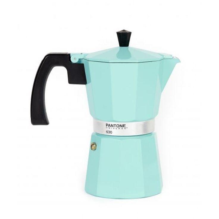 Pantone Stovetop Coffee Maker 6 Cup Vintage Blue
