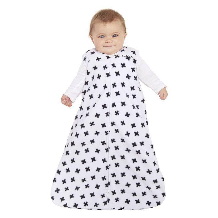 HALO SleepSack Wearable Blanket 100% Microfleece - Black & White Plus Signs