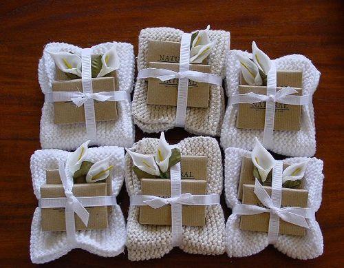 DIY Wedding Favors - Handmade Soaps Wrapped inside Hand Crocheted Washcloth