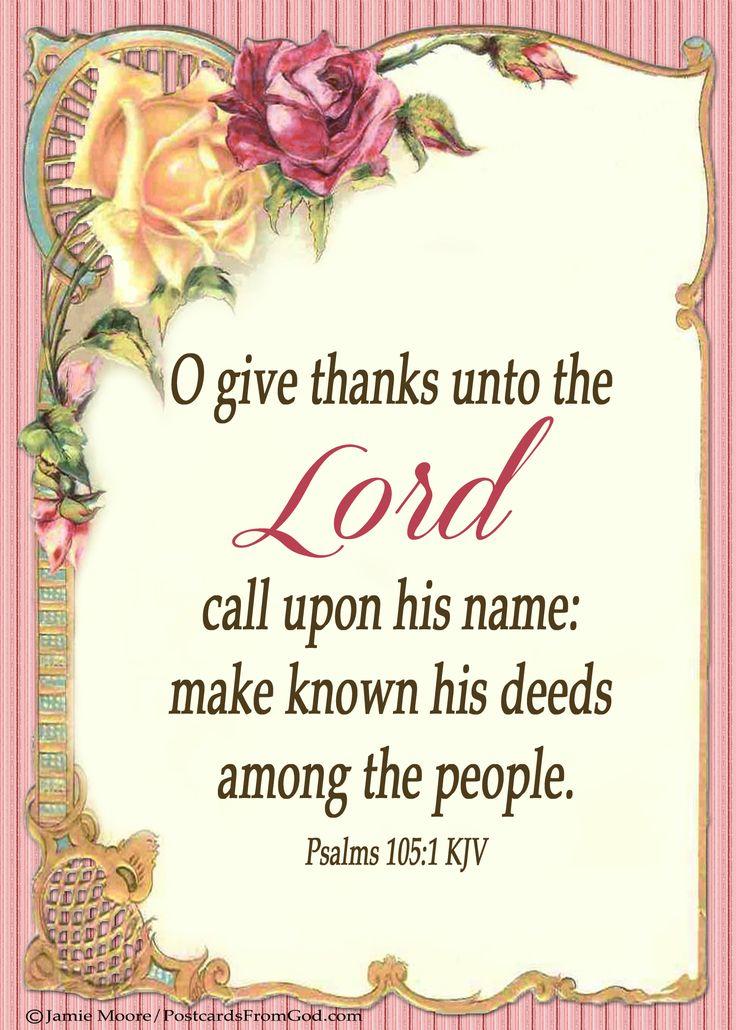 Psalm 105:1