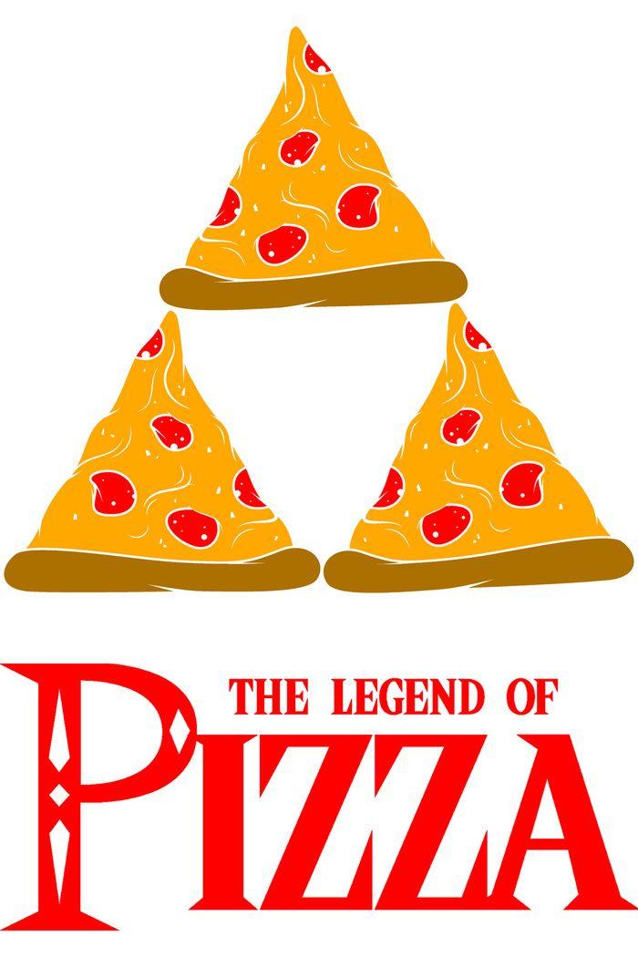 Legend Of Pizza Art Print #zelda #nintendo