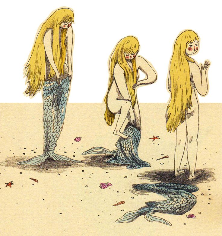 briony may smith: Mermaid steps out of her tail