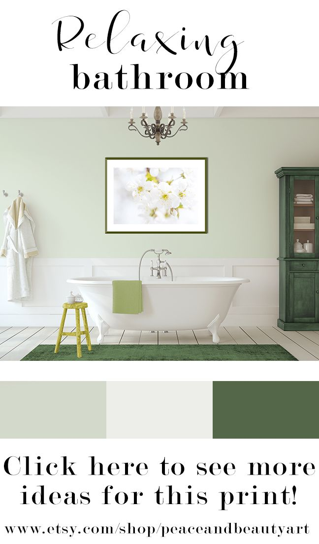 """Bring spring flowers into your bathroom all year round with this crisp white and yellow, cherry blossom tree branch, minimalist, still life, wall art. This floral print entitled, """"Ethereal Blossoms"""", will look great with cottage, shabby chic, boho, or traditional decor or any colorful space needing the grounding of neutral art. Best of all, this piece is versatile and can be hung vertically or horizontally.  Green and white, spa, farmhouse master bathroom."""