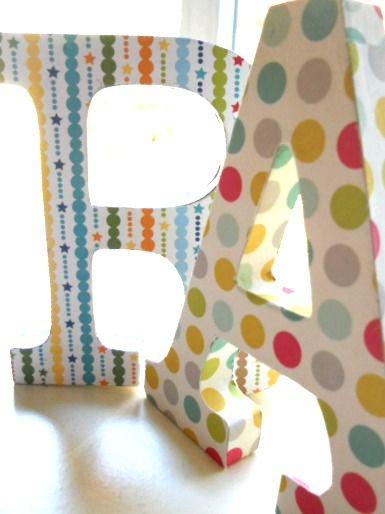 82 best images about letras para decorar on pinterest - Ideas para decorar letras de madera ...