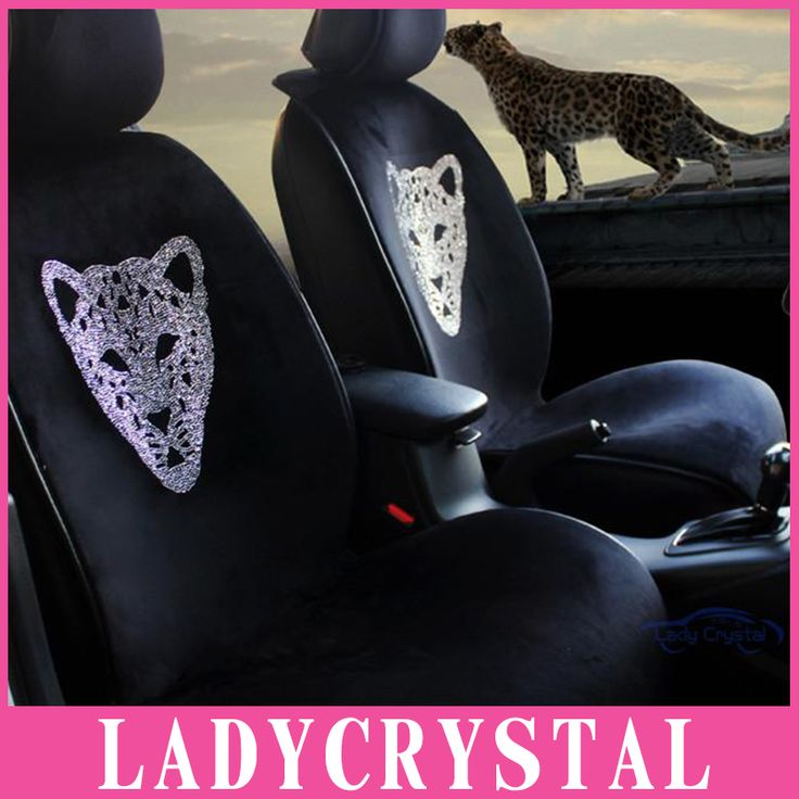 ==> [Free Shipping] Buy Best Ladycrystal Custom Personalized Bling Bling Leopard Cushion Car Seat Cover For Benz For BMW General Car Styling Seat Covers Online with LOWEST Price | 32745177879
